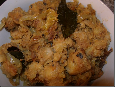 Aratikaya iguru / plantain curry