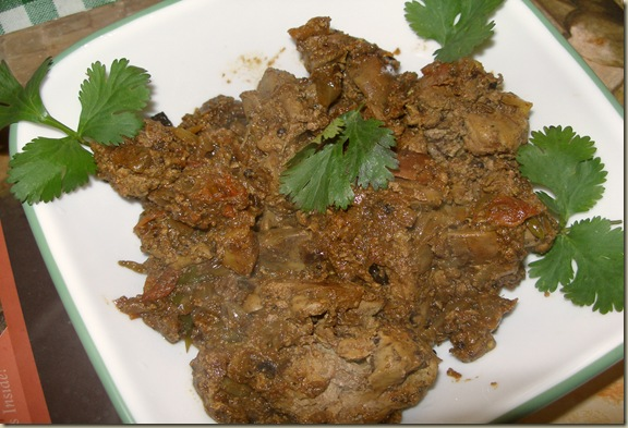 Chicken liver curry /karjam kura